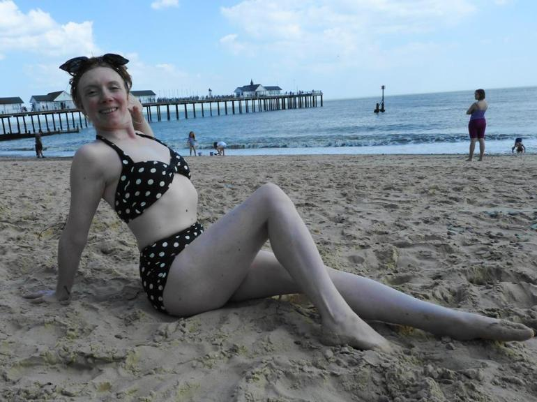 Jennifer on the beach in Brighton
