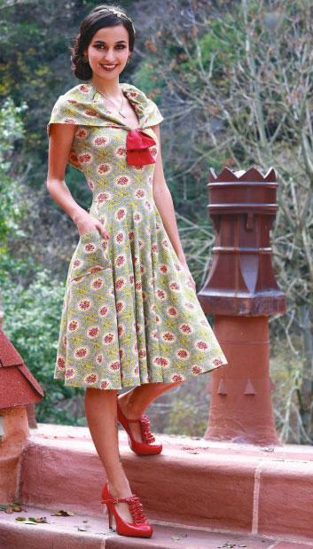 Buckingham Dress in Devonshire Print, $94