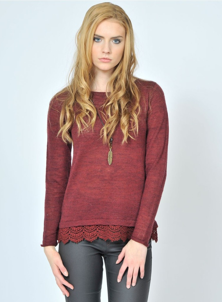 woodstock-burgundy sweater pink maritni