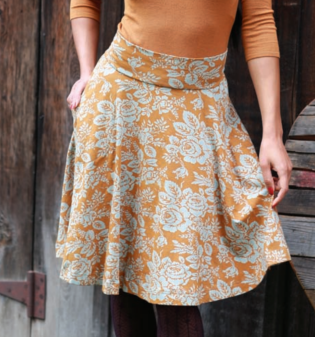Flocked Roses Skirt, $64